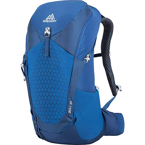 Gregory Mountain Products Zulu 30 Liter Men's Hiking Daypack, Empire Blue, Small/Medium