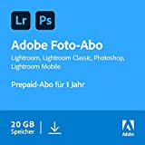 Adobe Creative Cloud Foto-Abo mit 20GB: Photoshop und Lightroom | 1 Jahreslizenz |...