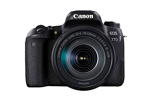 Canon EOS 77D DSLR Digitalkamera (24,2 Megapixel, 7,7 cm (3 Zoll) Display, APS-C CMOS Sensor, Full-HD)...