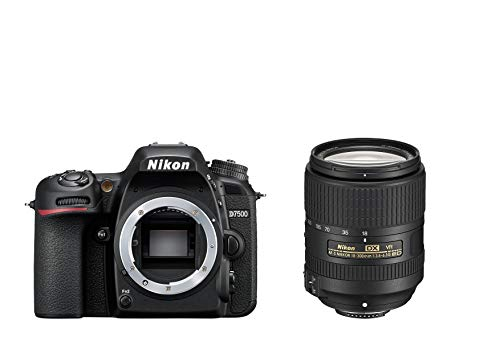 Nikon D7500 KIT AF-S DX 18-300 mm 1:3,5-6,3G ED VR (20,9MP, Expeed 5 Prozessor, 4k UHD Video, ohne...