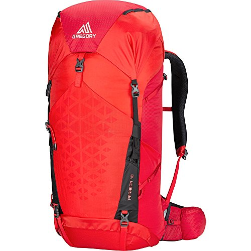 Gregory Mountain Products Paragon 48 Liter Men's Backpack, Citrus Red, Small/Medium