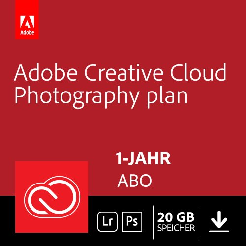 Adobe Creative Cloud Foto-Abo mit 20GB: Photoshop und Lightroom | 1 Jahreslizenz | PC/Mac Online Code &...