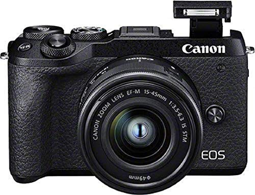Canon EOS M6 Mark II Systemkamera (32,5 Megapixel, 7,5 cm (3,0 Zoll), Touchscreen LCD, Display, Digic 8,...