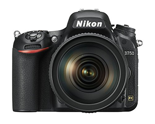 Nikon D750 SLR-Digitalkamera (24,3 Megapixel, 8,1 cm (3,2 Zoll) Display, HDMI, USB 2.0) Kit inkl. AF-S...
