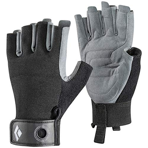 Black Diamond Erwachsene Handschuhe Crag Half Finger Gloves, Black, L
