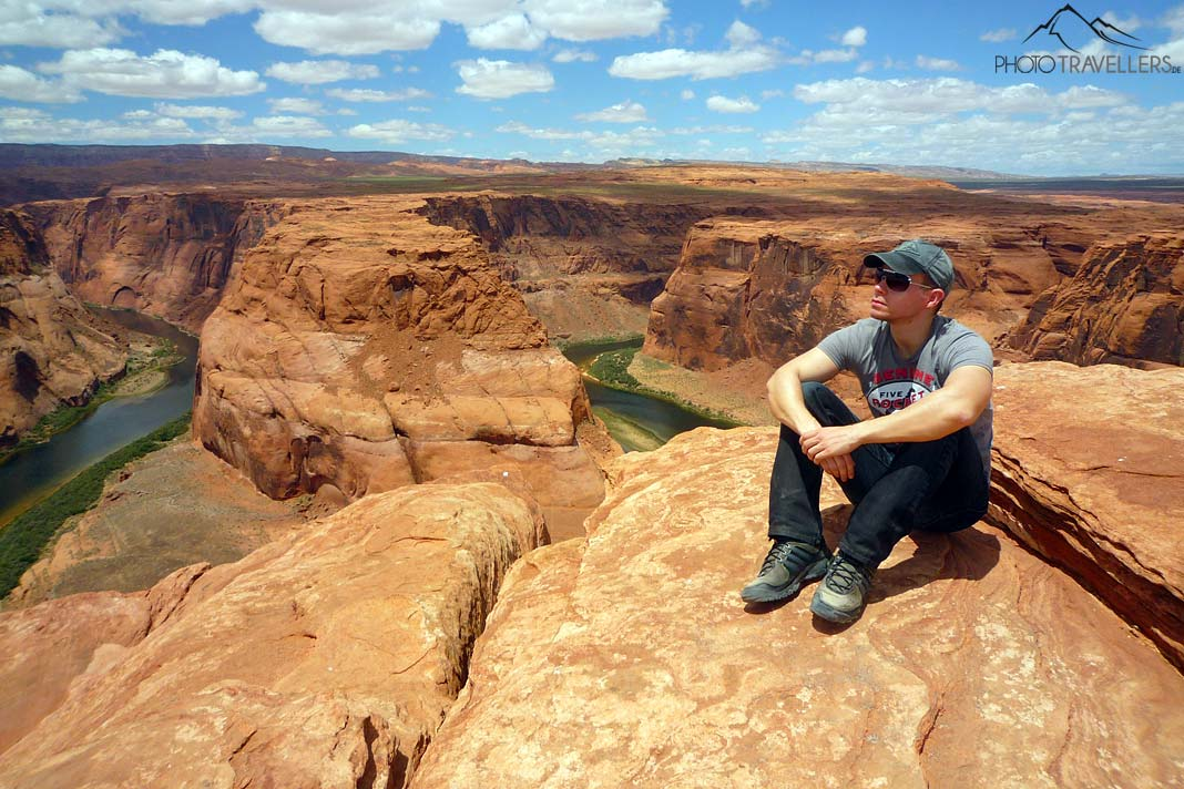 Pause am Horseshoe Bend