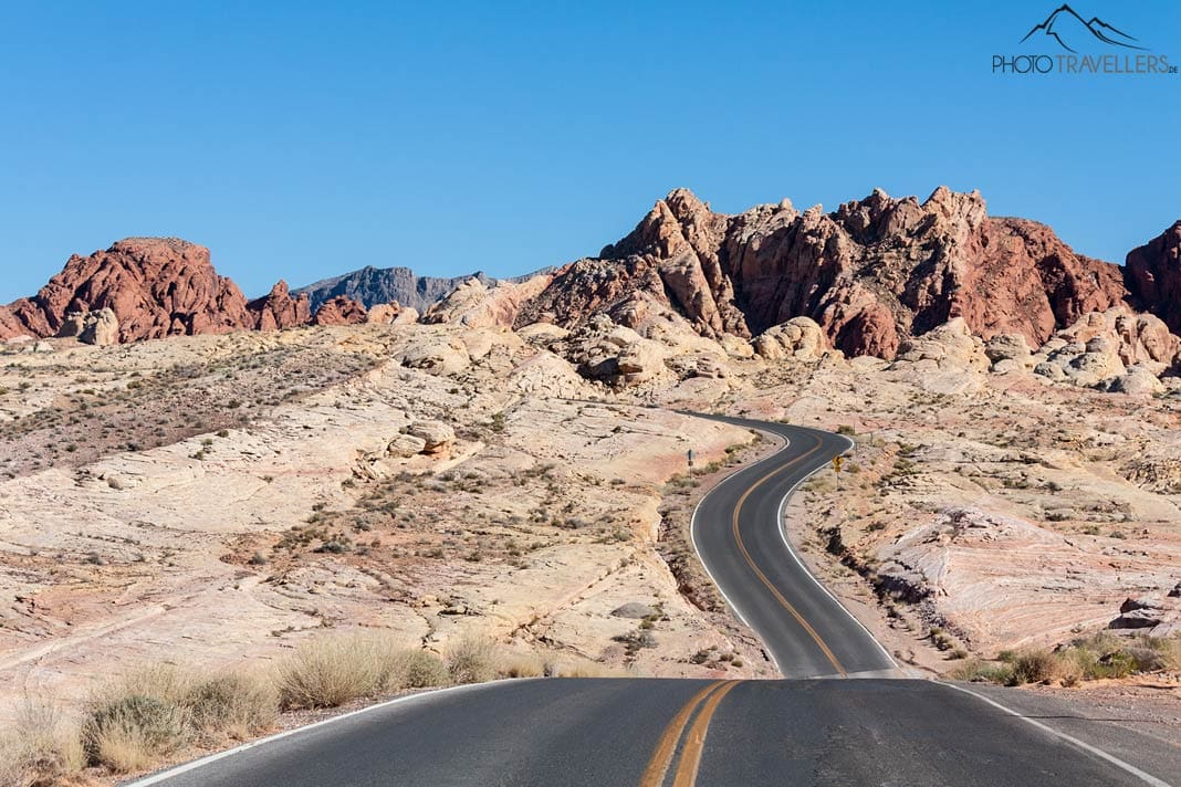 Highway durch das Valley of Fire