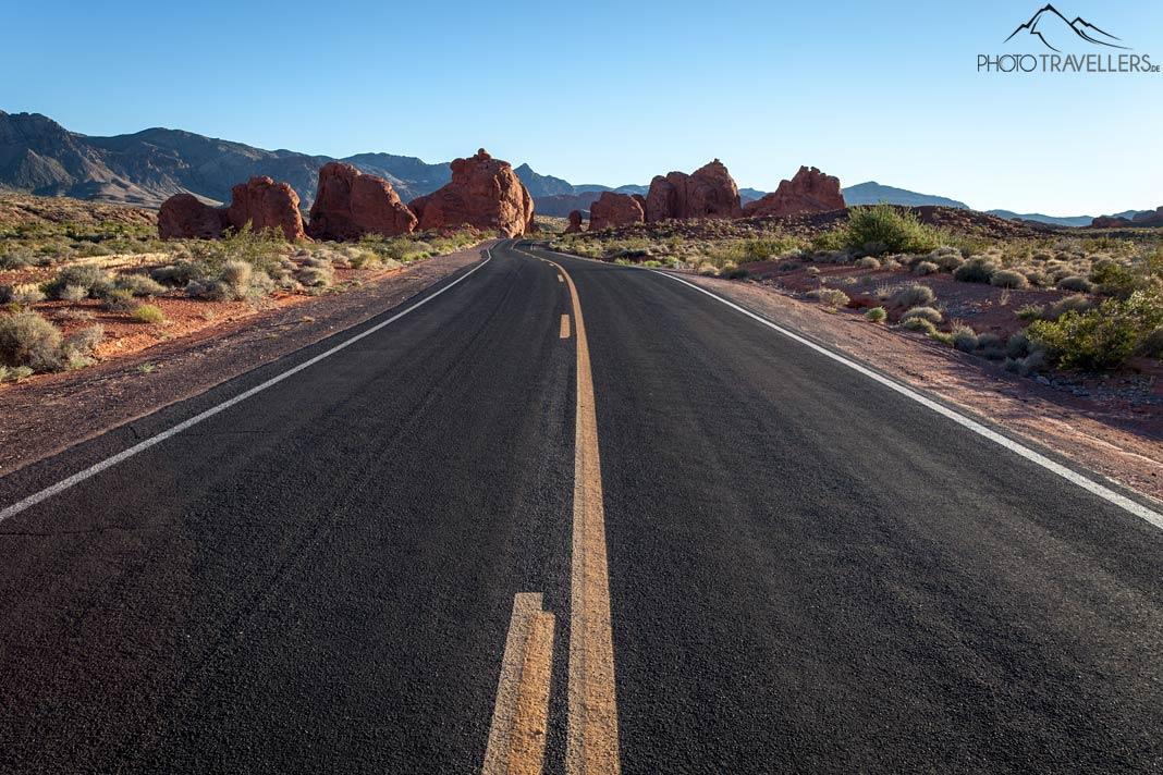 Highway im Valley of Fire