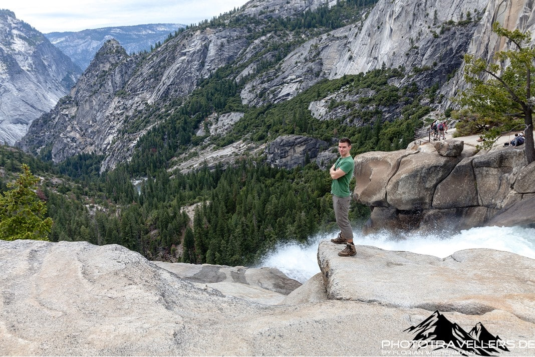 Florian Westermann at Nevada Fall
