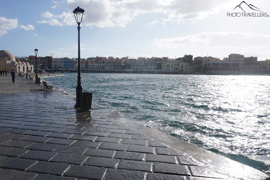 Die Strandpromenade in Chania