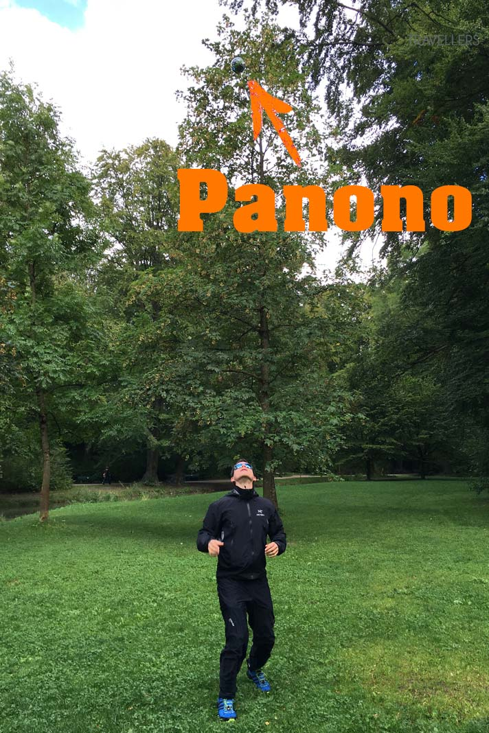 Panono-Ball in der Luft