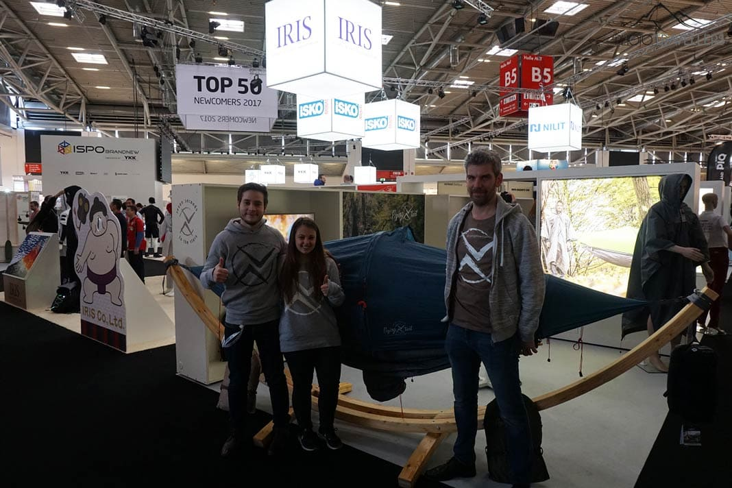 ISPO-Stand Flying Tent