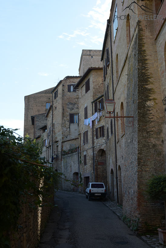 Gasse in San Gimignano