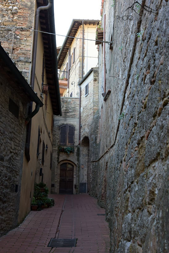 Enge Gasse in San Gimignano