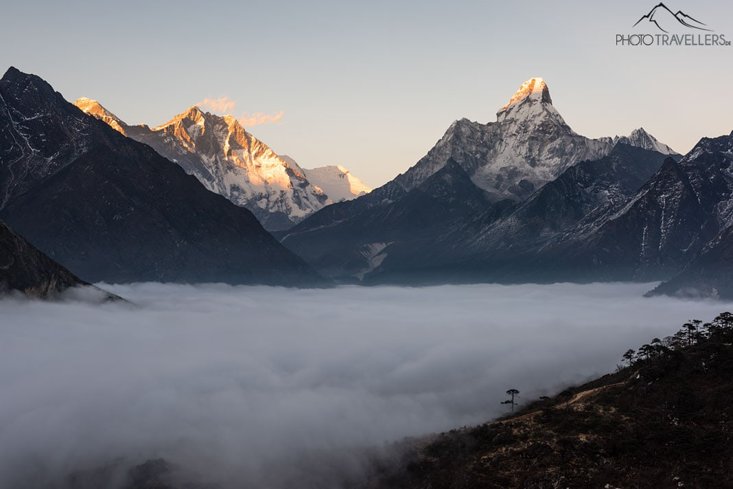 Mount Everest, Lhotse und Ama Dablam