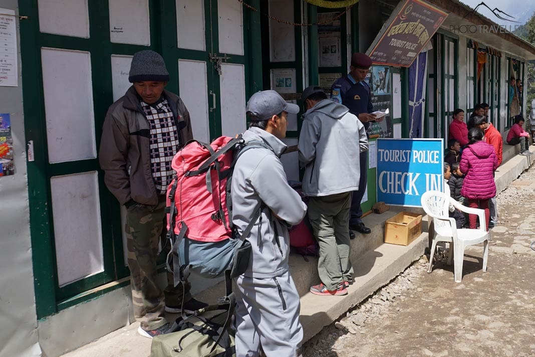 Checkpoint in Lukla