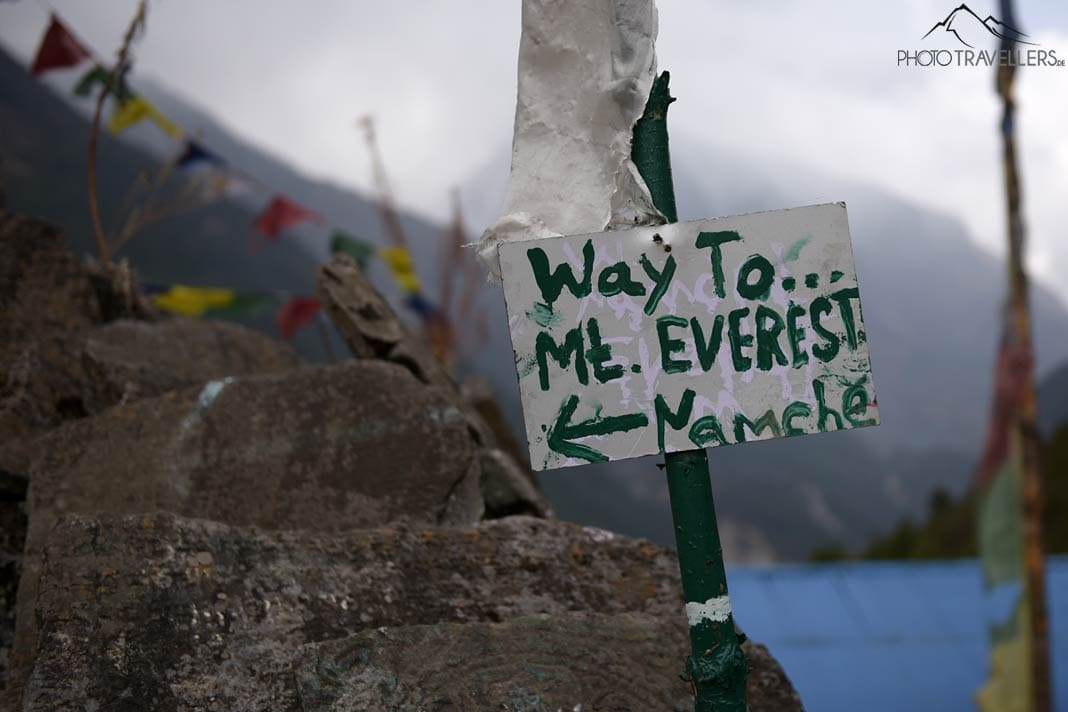 Wegweiser Mount Everest Base Camp