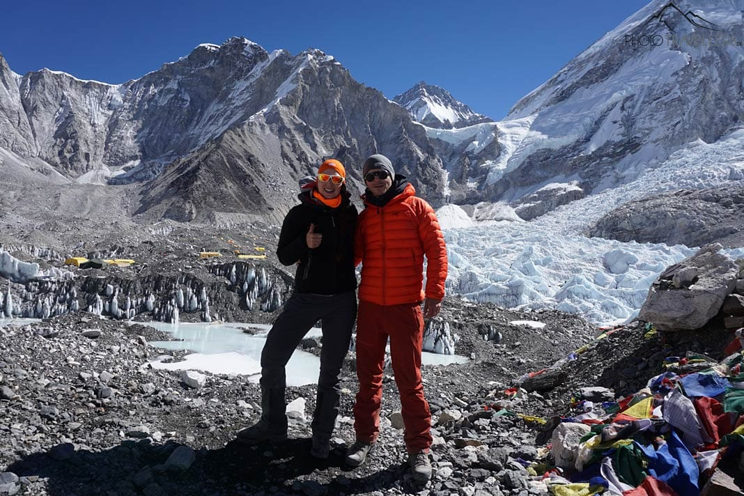 Biggi & Flo am Everest Base Camp
