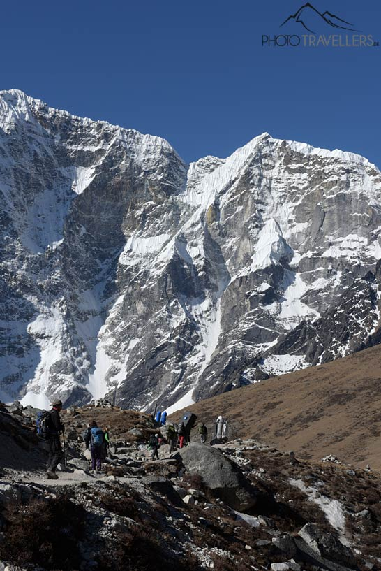 Wanderer auf Everest Base Camp