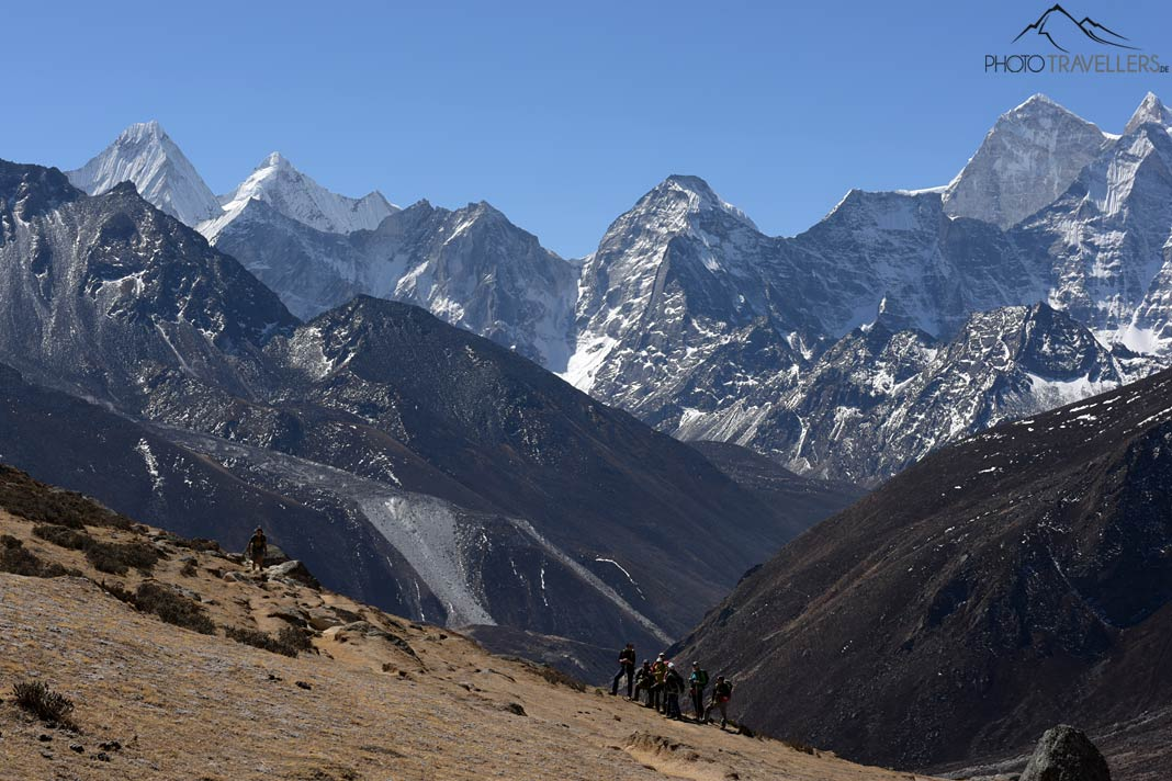 Wandergruppe auf dem Everest Base Camp Trek