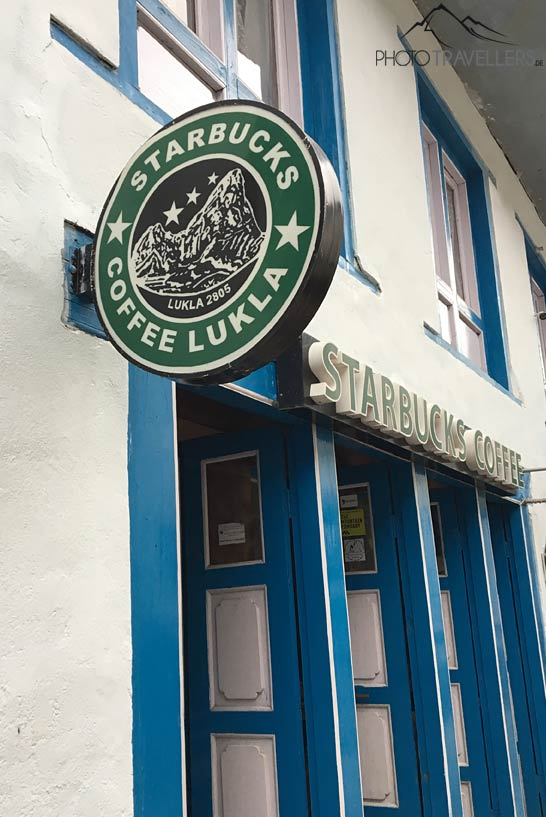 Fake-Starbucks in Lukla