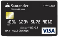 1-Plus Visa Card der Santander Bank