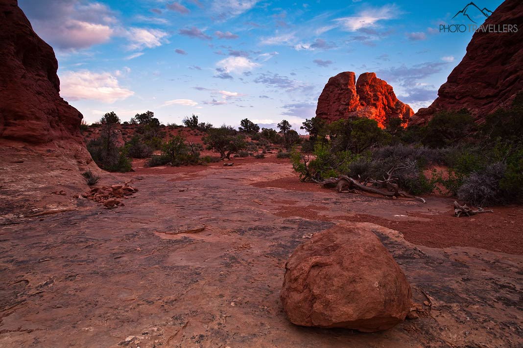 Sonnenuntergang im Arches Nationalpark