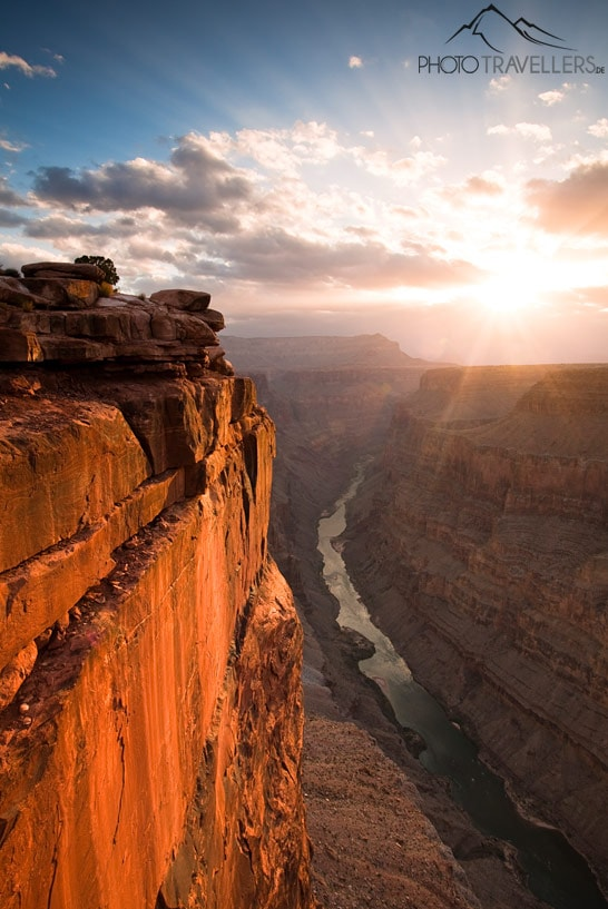 Sonnenaufgang am Toroweap Point am Grand Canyon