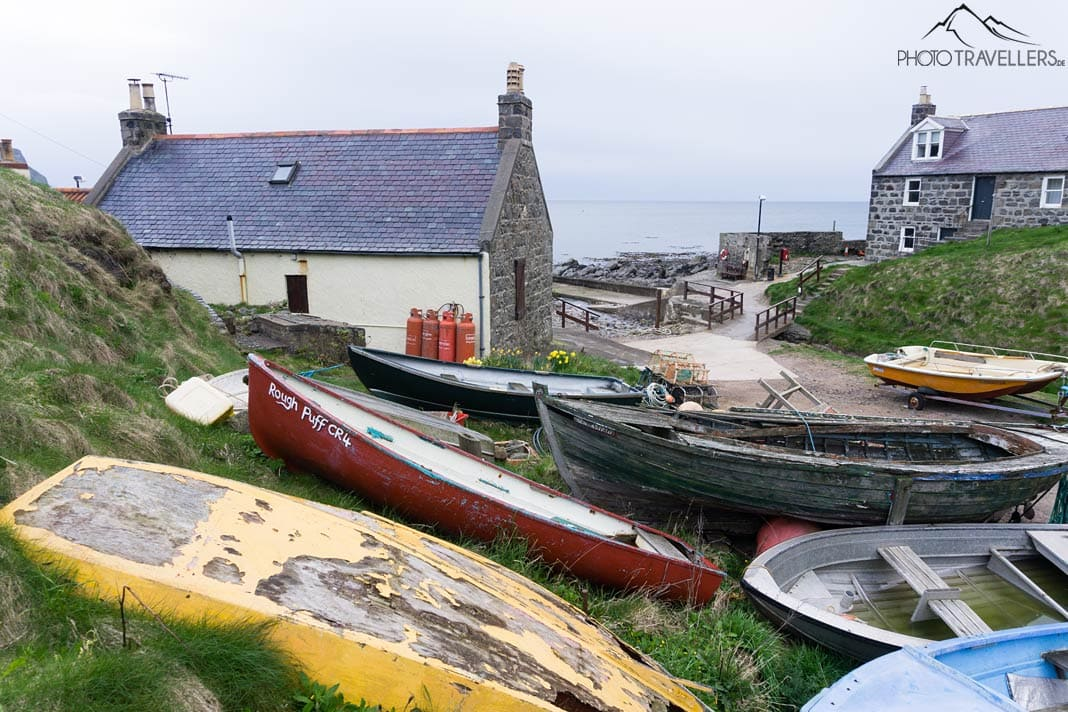 Boote in Crovie