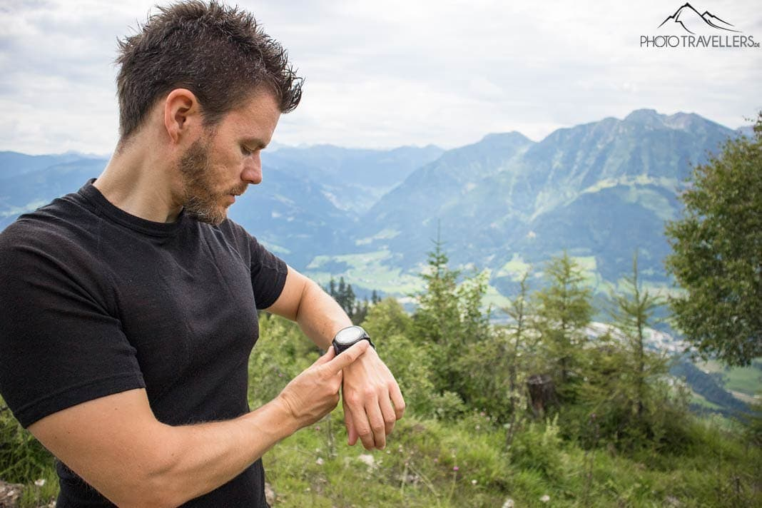 Blick aufs Display der Garmin Fenix 5X Plus