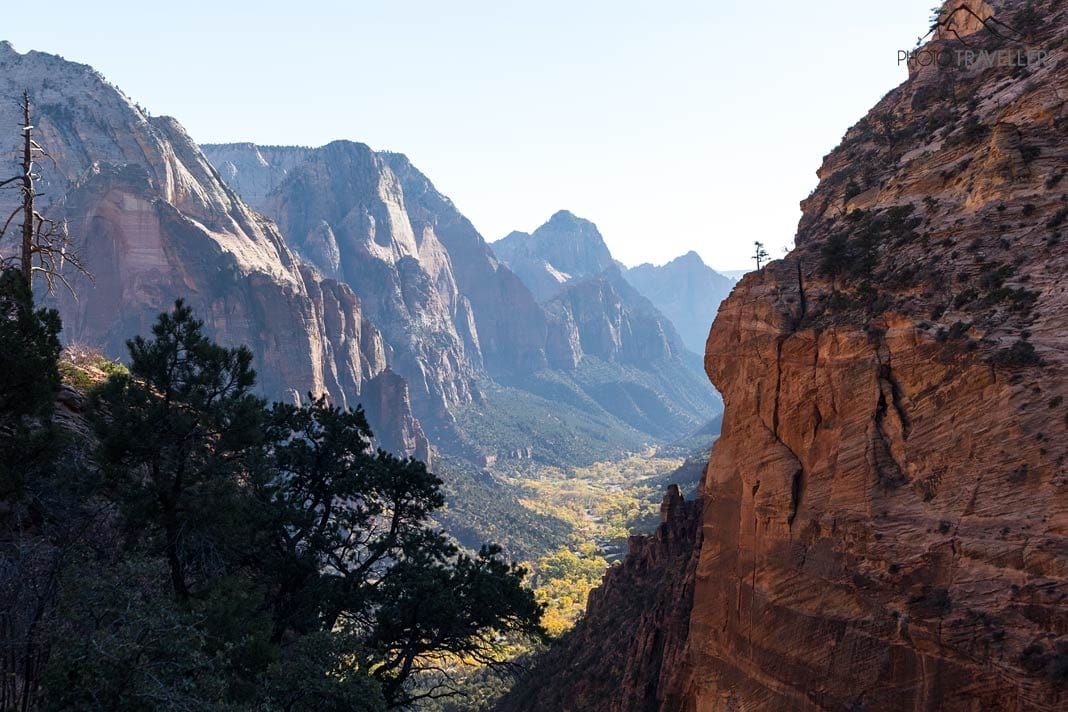 Aussicht in den Zion Canyon