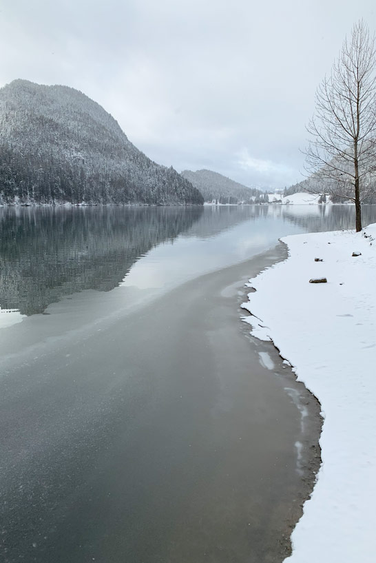 Hintersteiner See im Winter