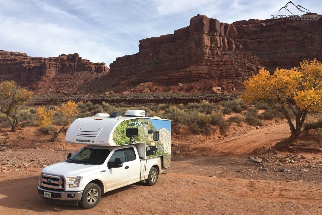 Wohnmobil im Valley of the Gods
