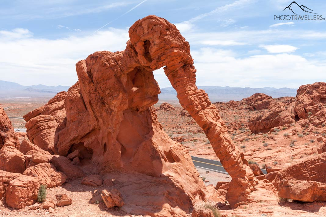 Der Elephant Rock im Valley of Fire