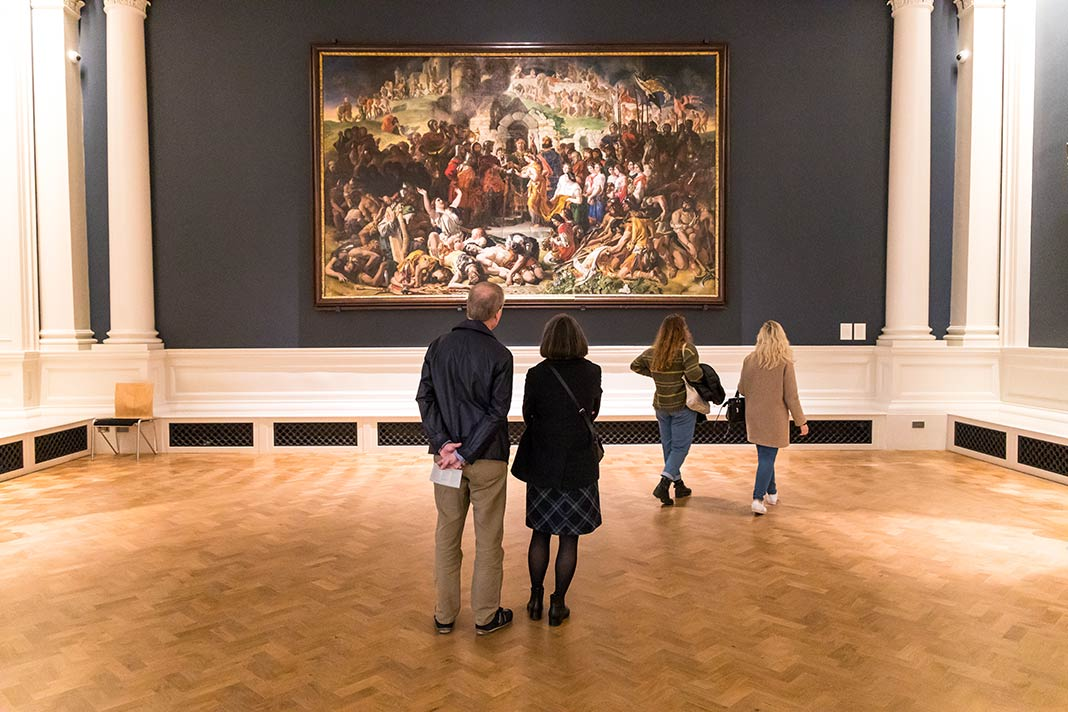 Ausstellung in der National Gallery of Dublin
