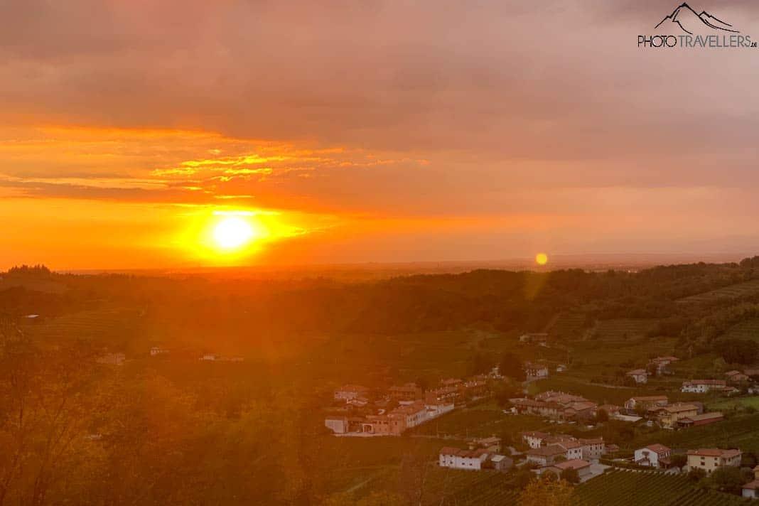 Sonnenuntergang in Slowenien Breg