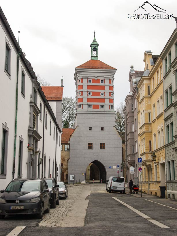 Das rote Tor in Augsburg