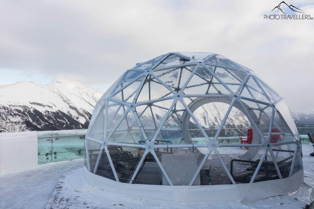 Iglu der Banff Gondola Bergstation