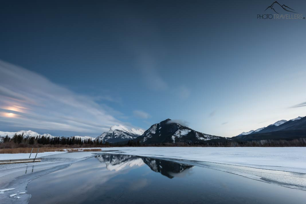 Die Vermillion Lakes im Banff Nationalpark im Winter