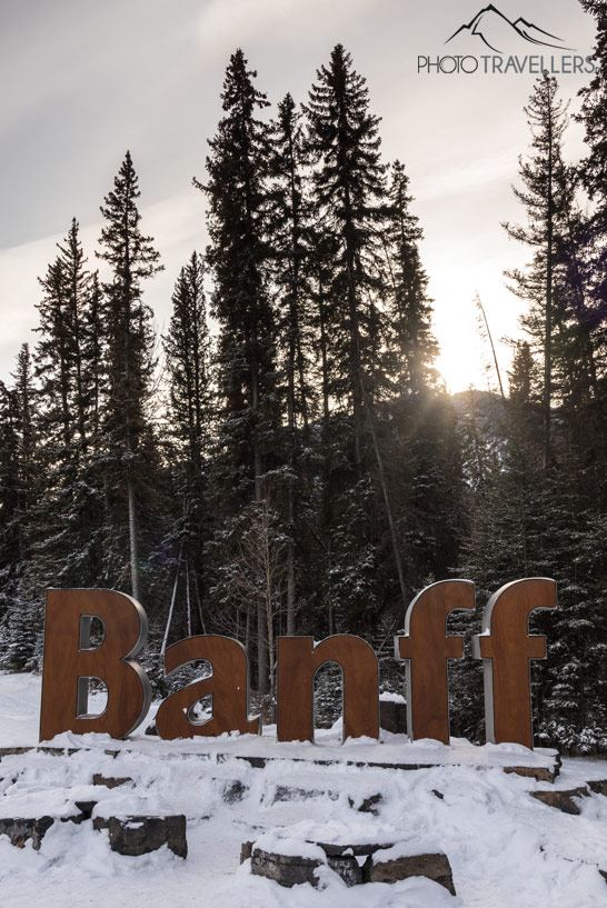 Das Banff Town Sign