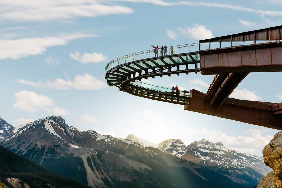 Der Columbia Icefield Skywalk