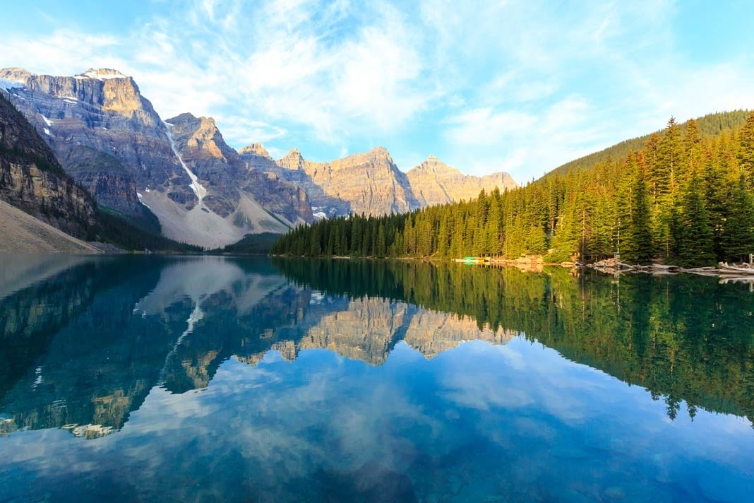 Der Moraine Lake im Banff Nationalpark