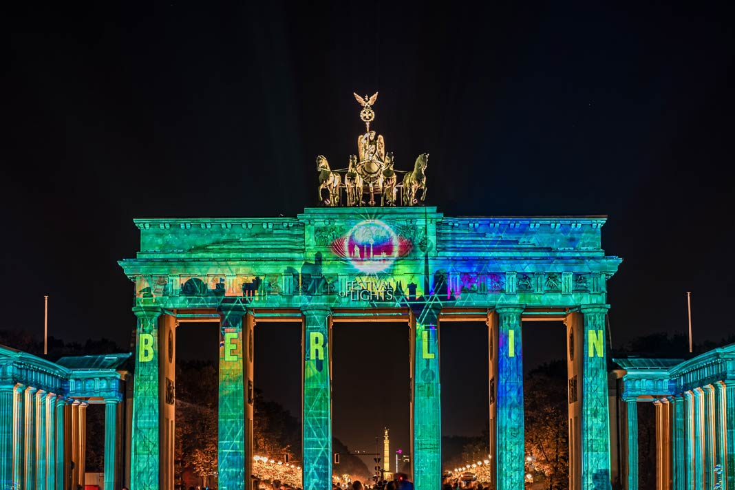Das Brandenburger Tor beim Berlin Festival of Lights