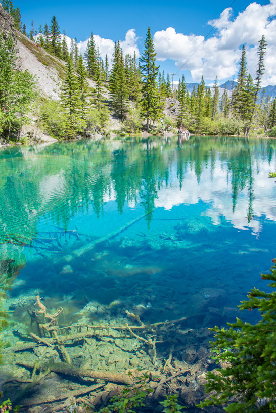 Die Grassi Lakes in der Nähe des Banff Nationalparks
