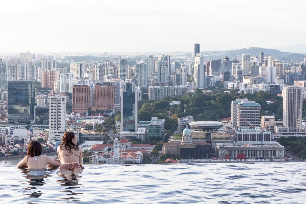 Der Infinity-Pool des Marina Bay Sands