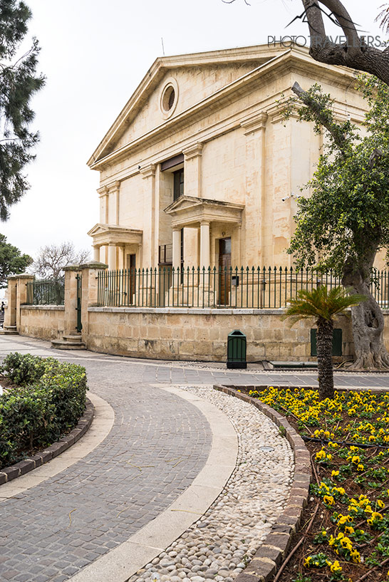 Altes Haus in den Upper Barraka Gardens in Valletta
