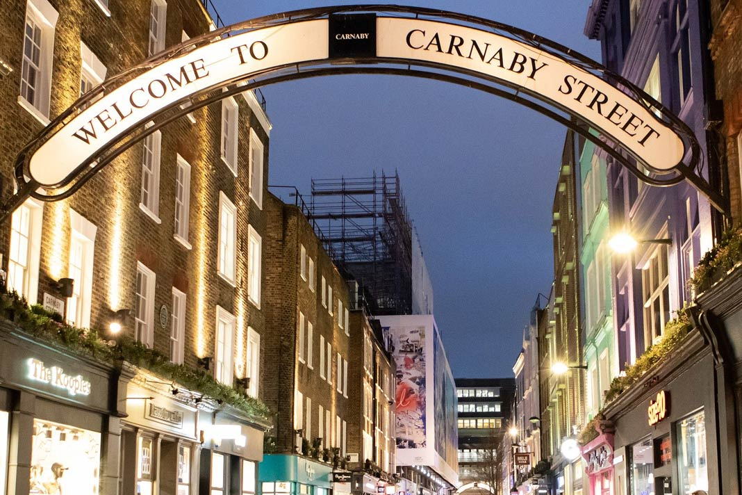 Die Carnaby Street in London