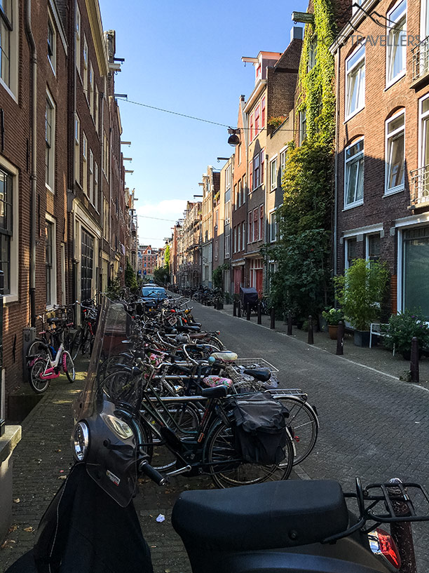 A street with bicycles in Amsterdam