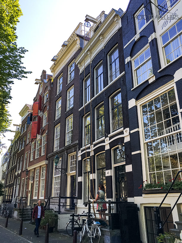 Facades of houses in Amsterdam