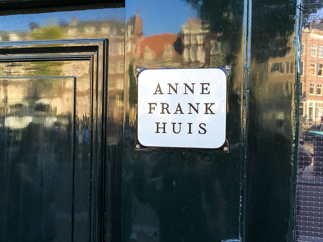 The entrance to the Anne Frank house